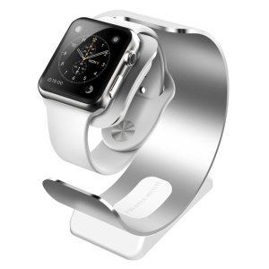 SINCETOP for Apple Watch CNC Aerospace Aluminum Alloy Charger Cradle Holder Mount Stand - Silver