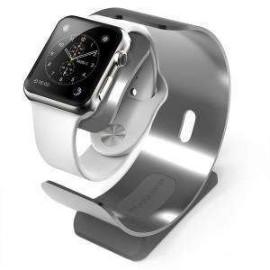 SINCETOP for Apple Watch Charger Stand CNC Aerospace Aluminum Alloy Cradle Holder Mount - Grey
