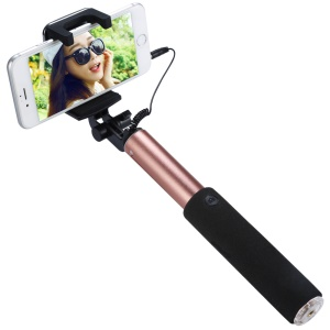 BENKS Mirror Wire Control Extendable Selfie Stick for Samsung Galaxy Note7 - Rose Gold