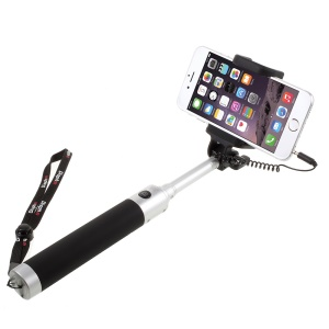 DISPHO Wire Control Foldable Extendable Selfie Stick Handheld Monopod -