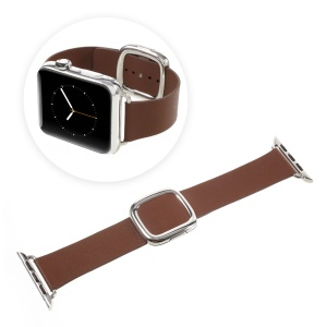 Genuine Leather High-quality Watch Strap for Apple Watch Series 4 44mm / Series 3 / 2 / 1 42mm - Brown