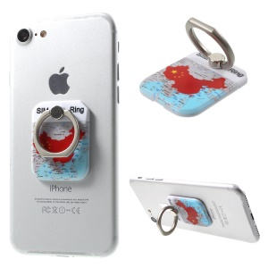 PICKOGEN Chinese Map Finger Ring Grip Holder for iPhone Samsung Huawei etc