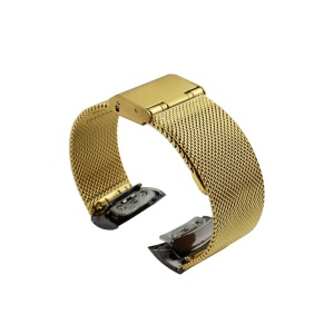 Stainless Steel Mesh Wrist Watch Strap for Samsung Gear Fit 2 SM-R360 - Gold Color