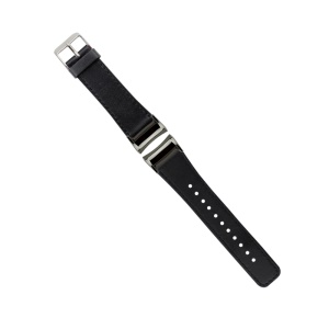 Genuine Leather Watch Band for Samsung Gear Fit 2 SM-R360 - Black