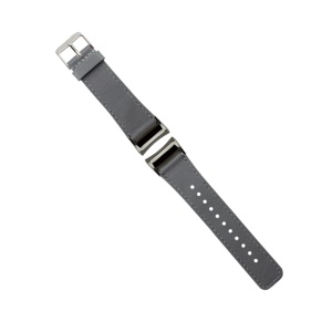 Genuine Leather Watchband for Samsung Gear Fit 2 SM-R360 - Grey
