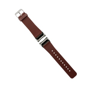 Genuine Leather Wristband Strap for Samsung Gear Fit 2 SM-R360 - Brown