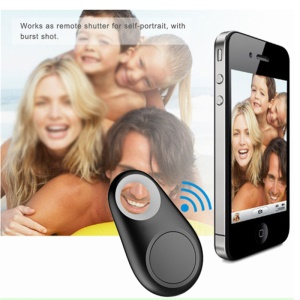 Mini Bluetooth 4.0 Bidirectionnel Anti-perte D'alarme Smart Tracker Soutien Photo Prise - Noir
