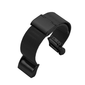 Stainless Steel Mesh Watch Band Strap for Fitbit Charge 2 - Black