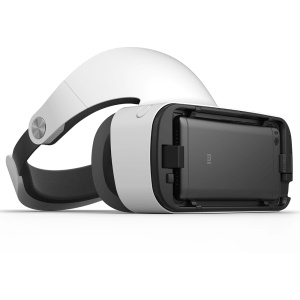 XIAOMI 3D VR Virtual Realidad Gafas Box Headset con mando a distancia Bluetooth - Blanco