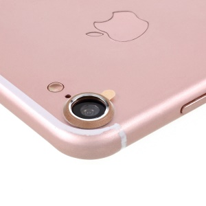 Rear Camera Lens Guard Cover Ring for iPhone 8 / 7 4.7 inch - Gold Color