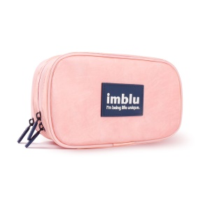 IMBLU Two Compartments DuPont Tyvek Paper Travel Storage Bag for Camera / Phone / Earphone - Pink