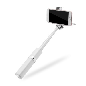 S1 Mini Lipstick Wired Monopod Extendable Selfie Stick for iPhone 6s/Huawei nova Etc - Silver