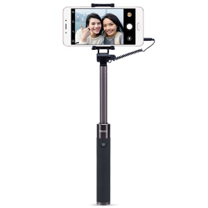 MEIZU 3.5mm Wire Control Mini Extendable Selfie Stick - Black