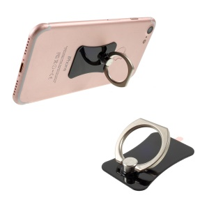 CMZWT Metal Ring Holder Stand 360-Degree Rotation for Cellphone Tablet - Jet Black