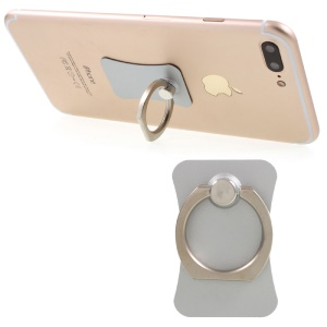 CMZWT 360-Degree Rotary Metal Finger Ring Stand for Cellphone Tablet - Silver