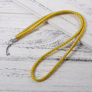 Woven Pattern Universal Neck Long Strap Lanyard for Cellphone Camera - Yellow
