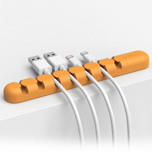 ORICO CBS7 Silicone Ethernet Cable Earphone Wire Management Holder - Orange