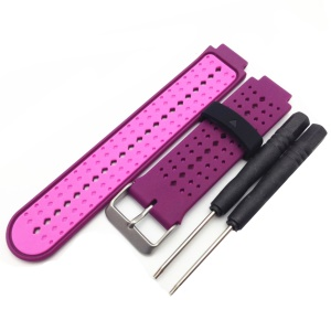 Universal Silicone Watch Strap for Garmin Forerunner 220/230/235/630/620/735 - Purple / Rose