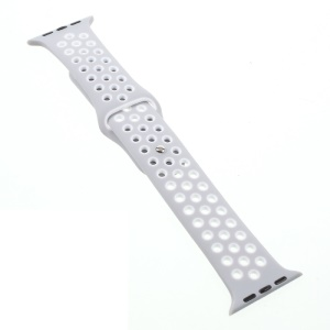 Hollowing Silicone Watchband Wrist Strap for Apple Watch Series 2 Series 1 42mm - Grey