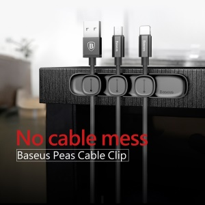 BASEUS Peas Cable Clip Magnetic USB Cord Holder Wire Organizer - Black