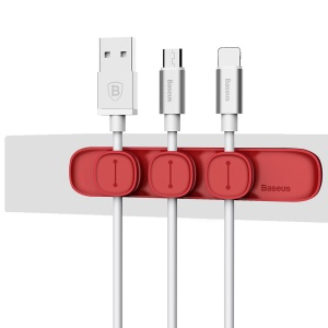 BASEUS Peas Magnetic Cable Clip USB Cord Holder Wire Management - Red