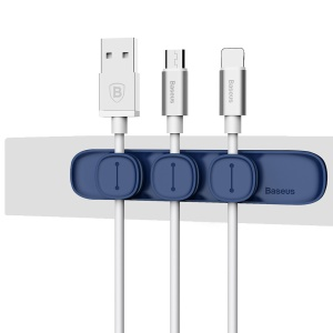 BASEUS Peas Magnetic Cable Clip USB Cable Holder Wire Organizer - Blue