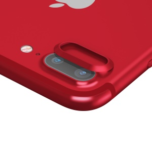 BASEUS Aluminum Alloy Metal Back Camera Lens Protector for iPhone 7 Plus 5.5 inch - Red