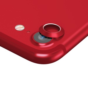 BASEUS Metal Back Camera Lens Ring Cover for iPhone 7 4.7 inch - Red