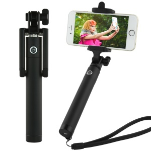 PIERRE CARDIN PCQ-E07 Bluetooth Selfie Monopod Rotary Selfie Stick for iPhone 7 Etc. - Black