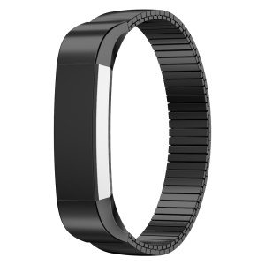Elastic Stainless Steel Bracelet Watch Band Strap for Fitbit Alta - Black