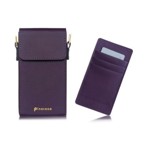 PINACEAE Women's Mobile Phone Purse Wallet Mini Handbag with Detachable Strap, Size: 17x9.3x3.25cm - Purple