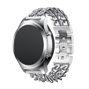Luxury Cowboy Chain Electroplated Stainless Steel Watch Band for Samsung Gear S3 Classic / Frontier - Silver