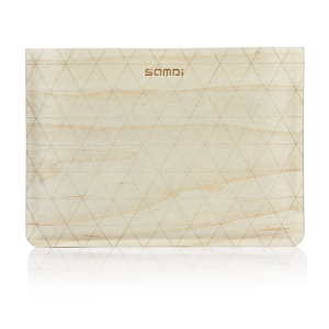 SAMDI Birch Wood Skin Wool Felt Universal Pouch for iPad mini 4 / 3 / 2 / 1 - Birch