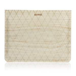 SAMDI Birch Wood Skin Wool Felt Universal Sleeve Pouch for iPad 3 / 2 / 1, iPad 9.7 inch Etc. - Birch