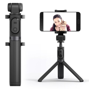 XIAOMI Selfie Stick Tripod Bluetooth Wireless Self Timer with 360 Degree Rotary Clamp for iOS / Android Smartphone - Black