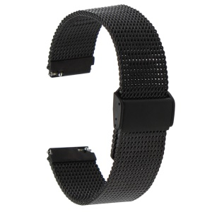 OEM Stainless Steel Mesh Watch Band Strap Replacement for Huawei Watch - Black