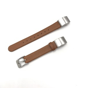 Genuine Leather Watch Strap with Classic Buckle for Fibit Alta HR / Fitbit Alta - Brown