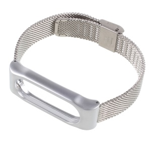 Mesh Milanese Watch Band for Xiaomi Mi Band 2 - Sliver