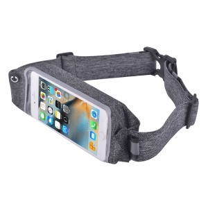 DEVIA Easygo Waist Bag Universal Touch Screen Music Sports Waist Bag for iPhone 7 Plus / 6s Plus etc. - Grey