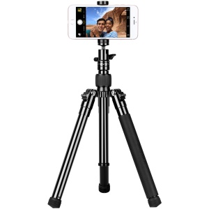 MOMAX Tripod Pro 6 Multi-functional Selfie Stick Table Top Tripod Outdoor Tripod for DSLR Cameras - Black