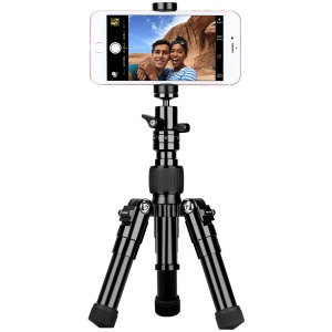 MOMAX Tripod Pro 5 Multi-functional Selfie Stick Table Top Tripod Outdoor Tripod for DSLR Cameras - Black