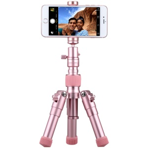 MOMAX Tripod Pro 5 Lightweight Aluminum Alloy Camera Tripod Monopod Stand for Phones and DSLR Cameras - Rose Gold Color