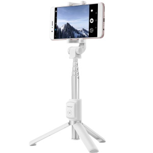 HUAWEI HONOR AF15 Cellphone Tripod Stand Selfie Stick Wireless Bluetooth Control for Huawei P10 etc. - White