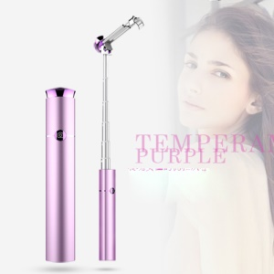 WONEW BR19 Extendable Bluetooth 4.0 Mini Lipstick Selfie Stick Monopod for iPhone 7 / 7 Plus Etc. - Purple