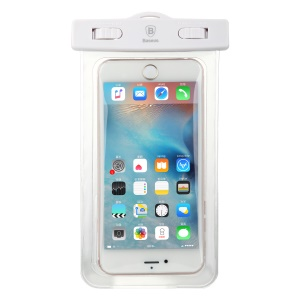 Baseus Universal 30m Waterproof Pouch for iPhone 7 plus / Huawei P10 Plus Etc. within 5.5 Inch -  White