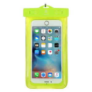 Baseus Universal 30M Waterproof Bag Case for iPhone 7 plus / Huawei P10 Plus Etc. within 5.5 Inch - Green