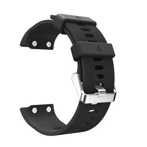 Soft Silicone Watch Band for Garmin Forerunner 35 - Black