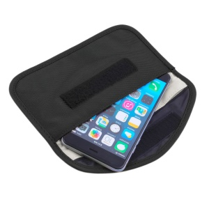 Mobile Signal Blocker Shield Cloth Case, Size: 19.5 x 10.5cm  - Black