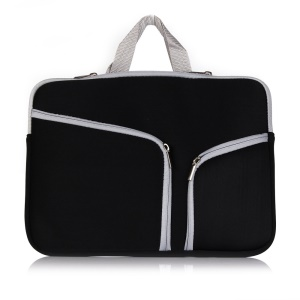 Universal Dual Zipper Bag Case for MacBook Air 11.6 inch / MacBook 12-inch with Retina Display - Black