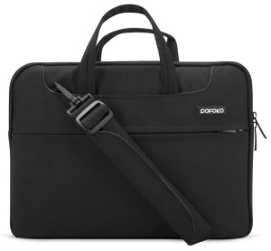 POFOKO Waltz Series Shoulder Strap Laptop Sleeve Bag para iPad Pro / Macbook Air Pro 13.3 inch - negro